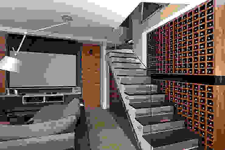 schody Nowoczesny korytarz, przedpokój i schody od RED design Nowoczesny