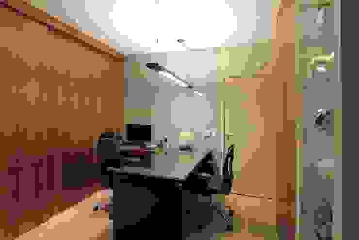Sala Advogado Lojas & Imóveis comerciais ecléticos por Camila Tannous Arquitetura & Interiores Eclético