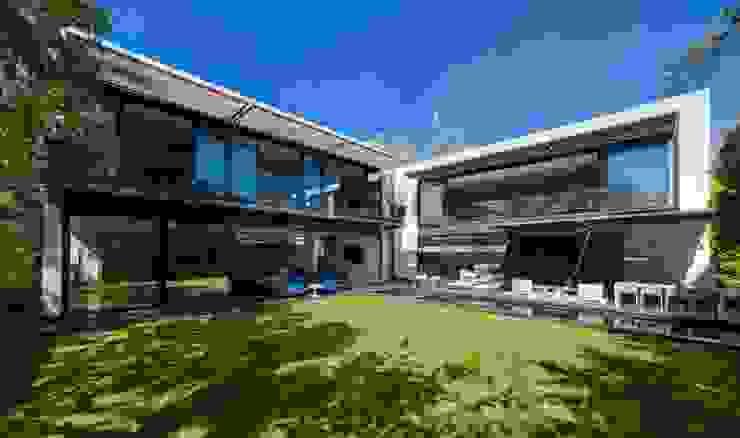 Varandas, alpendres e terraços minimalistas por grupoarquitectura Minimalista