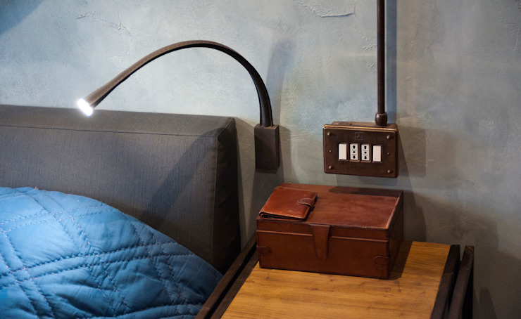 http://retrolight.ru/, http://contardi-italia.com/contract/ Спальня в стиле лофт от Elena Koroleva Лофт