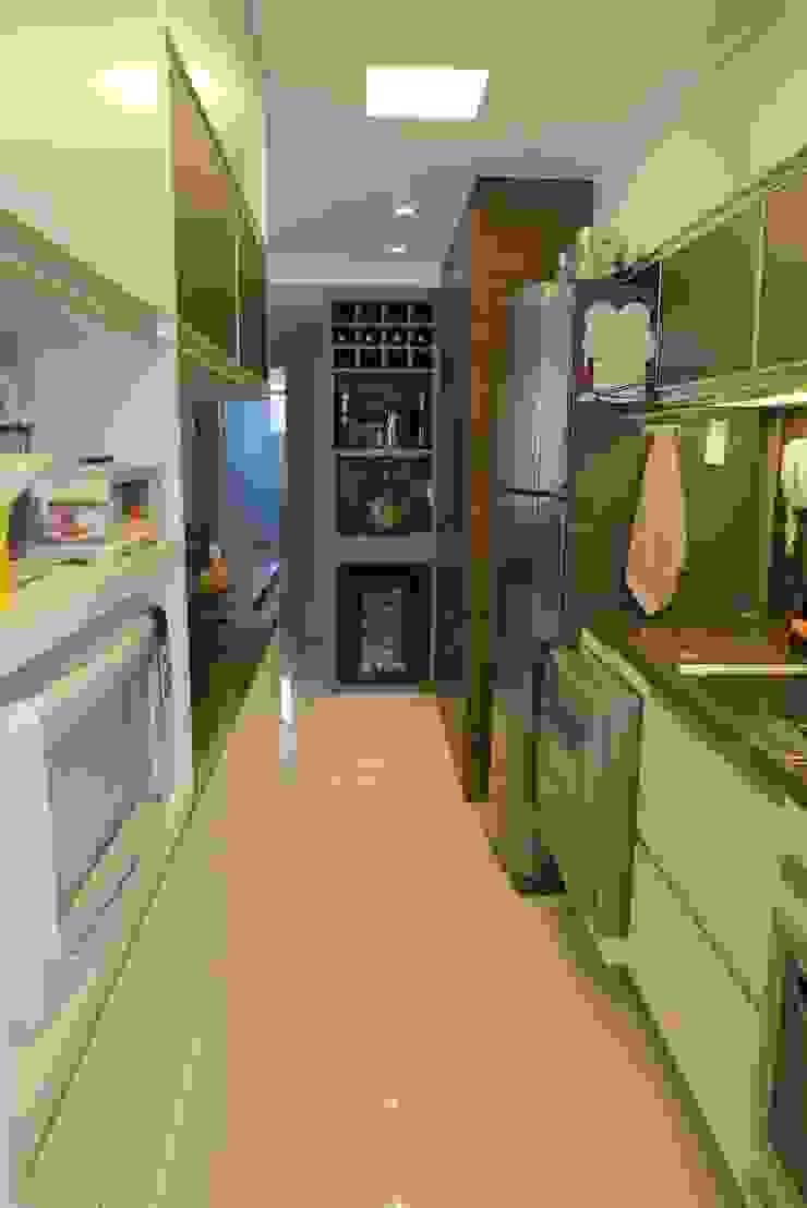 Cozinha/churrasqueira/bar Cozinhas modernas por Paula Szabo Arquitetura Moderno