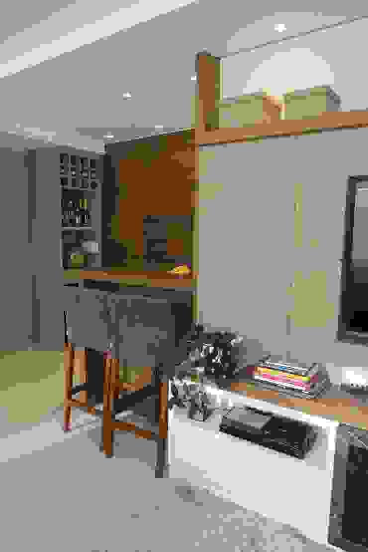 Bar/churrasqueira Salas de estar modernas por Paula Szabo Arquitetura Moderno