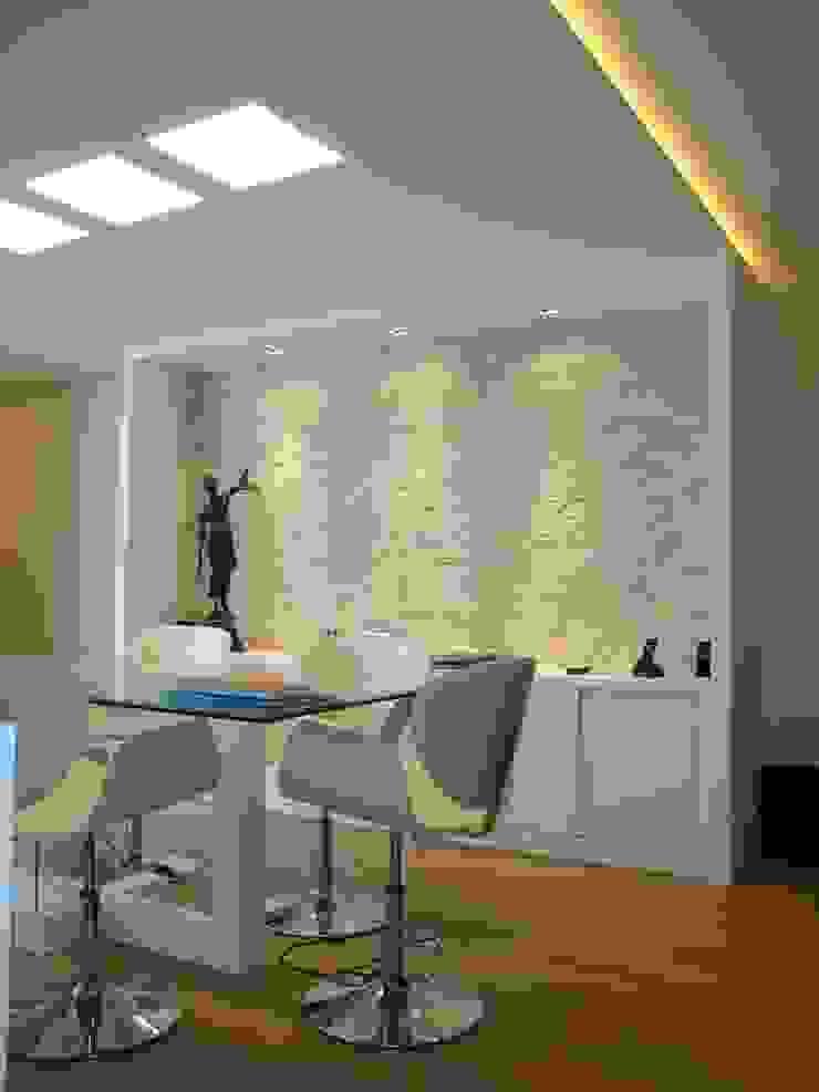 Sala de reuniões Espaços comerciais modernos por Paula Szabo Arquitetura Moderno