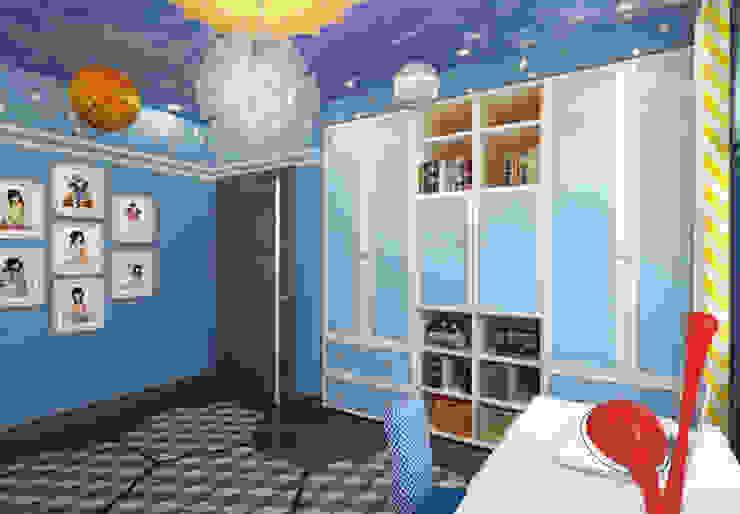 """Детские комнаты """"день и ночь"""" для мальчиков. Спальня """"ночь"""". Детские комната в эклектичном стиле от K-Group Эклектичный"""