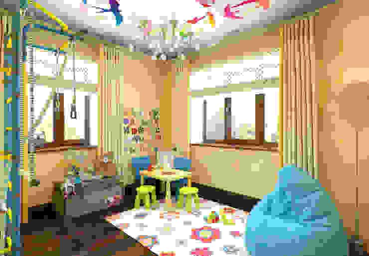 """Детские комнаты """"день и ночь"""" для мальчиков. Игровая """"день"""". Детские комната в эклектичном стиле от K-Group Эклектичный"""