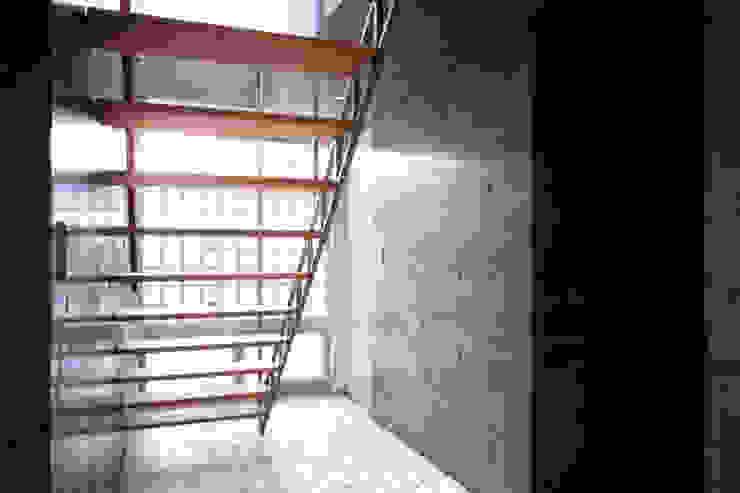 コートハウス2の階段 モダンスタイルの 玄関&廊下&階段 の 土居建築工房 モダン