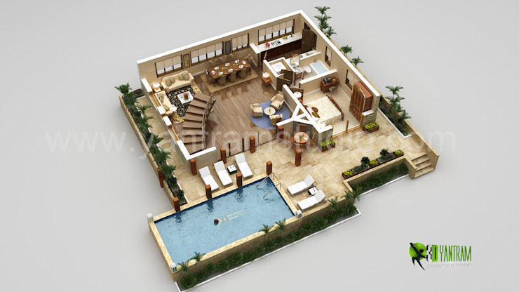 Interactive 3D Floor Plan Oleh Yantram Architectural Design Studio