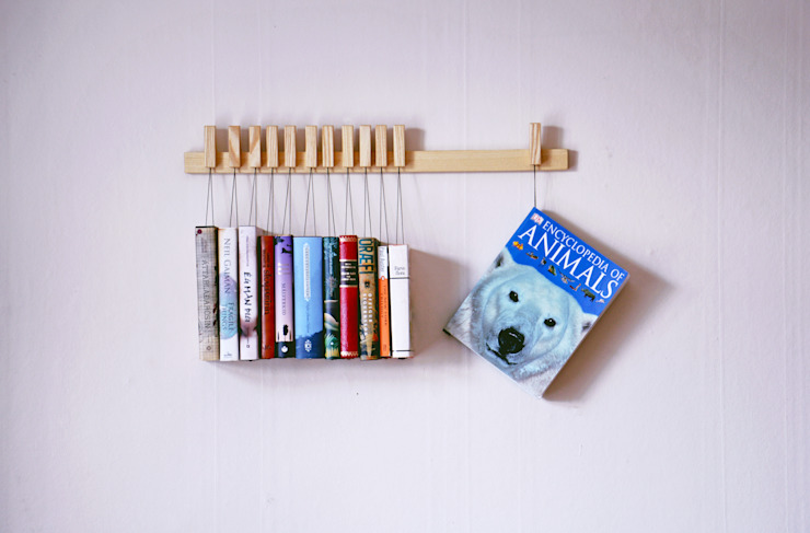 Book rack in Ash par agustav Moderne