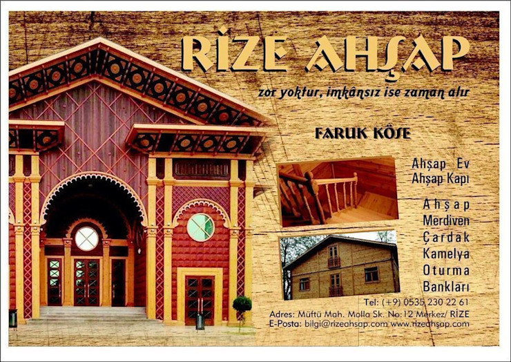 Salones de eventos de estilo moderno de Rize Ahşap Moderno