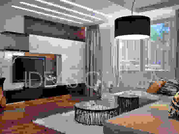 Сафари стиль для гостиной Гостиная в стиле модерн от Студия дизайна Interior Design IDEAS Модерн