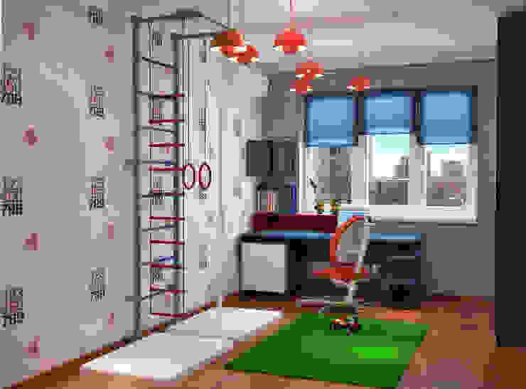 Спортивный интерьер детской комнаты Детская комната в стиле модерн от Студия дизайна Interior Design IDEAS Модерн