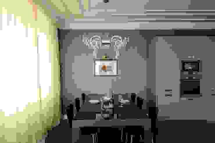 Квартита в ЖК <q>Смоленская застава</q>. Столовая комната в эклектичном стиле от Tedderson Эклектичный