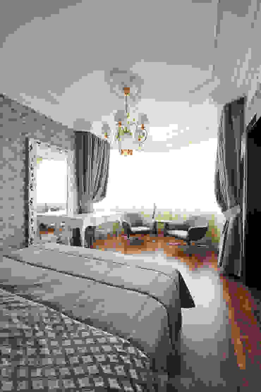 Квартита в ЖК <q>Смоленская застава</q>. Спальня в эклектичном стиле от Tedderson Эклектичный