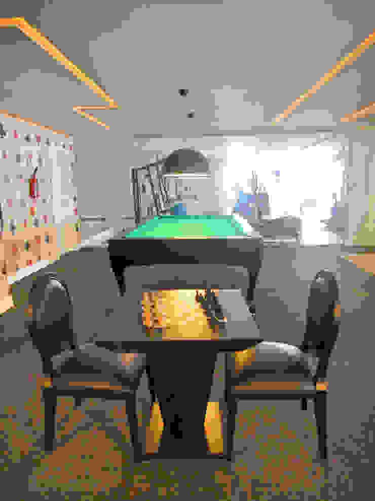 Sala de Jogos Salas multimídia ecléticas por Gabriela Herde Arquitetura & Design Eclético