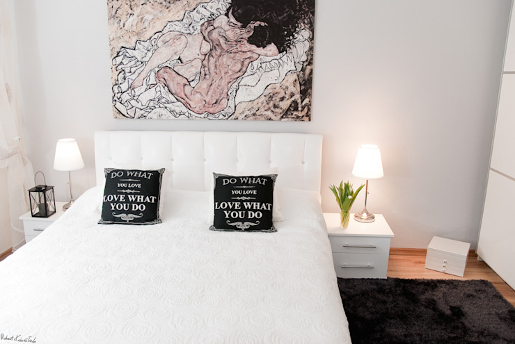 YNOX Architektura Wnętrz Skandinavische Schlafzimmer
