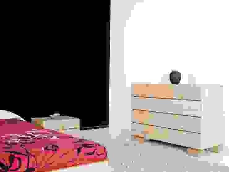 Comoda Ombu realizada en madera de haya maciza de Haiku-Futon Minimalista