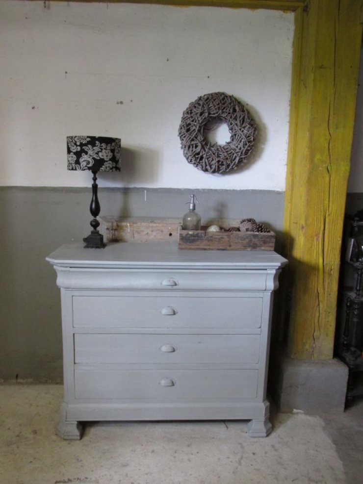 Brocante (baby) commode, antiek en Frans van Were Home Rustiek & Brocante