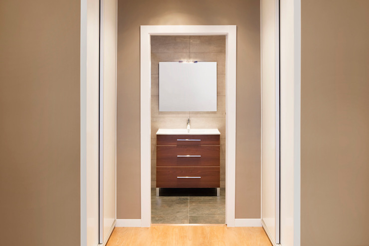Baño habitación Suit Baños de estilo mediterráneo de GPA Gestión de Proyectos Arquitectónicos ]gpa[® Mediterráneo