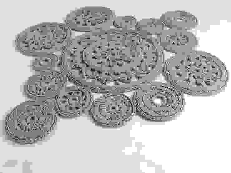 Crochet rug, crochet carpet, round rug, knitted carpet, knitted rug, various colors model LILLE, color 13 di RENATA NEKRASZ art & design Scandinavo