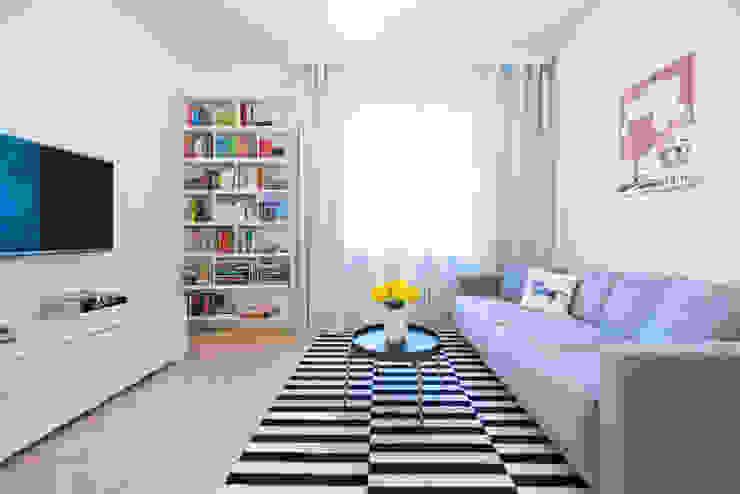 Ruang Keluarga Gaya Skandinavia Oleh dziurdziaprojekt Skandinavia