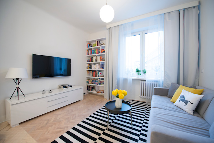 Ruang Keluarga Modern Oleh dziurdziaprojekt Modern