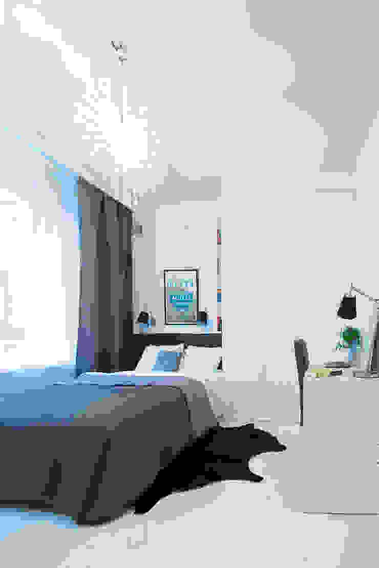 Kamar Tidur Gaya Skandinavia Oleh dziurdziaprojekt Skandinavia