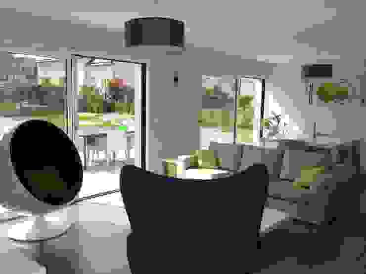 Perspective Salon moderne par atelier 742 Moderne