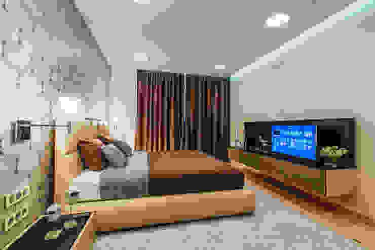 Квартира Бухта Мечты Спальня в стиле модерн от INCUBE Алексея Щербачёва Модерн