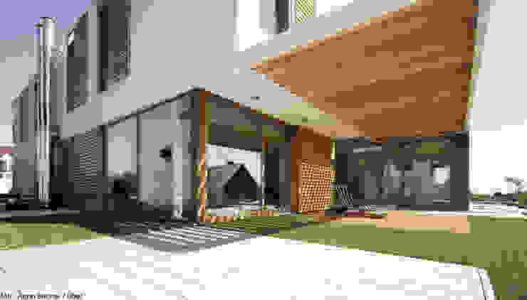dom pod Gdańskiem Minimalistyczny balkon, taras i weranda od PRACOWNIA 111 Minimalistyczny