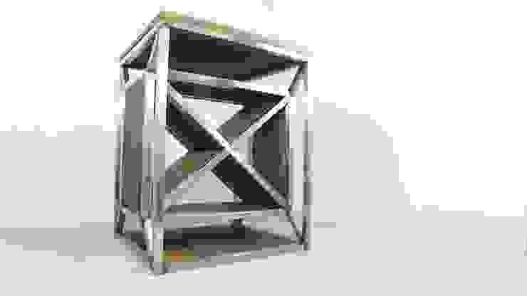 Dulla X Frame Industrial Wine Rack by Russell Oak and Steel Ltd Industrial