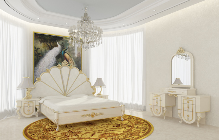 Gold Avangarde Bedroom ( http://www.eronur.com/ ) Inan AYDOGAN /IA Interior Design Office Klasik