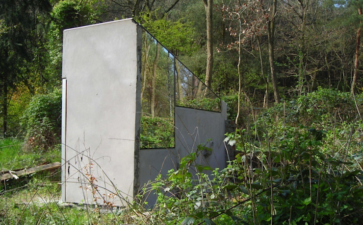 micro house, mirror house, upcycling, Minimal-Architektur Minimalistische Häuser von studio raumvielfalt Minimalistisch