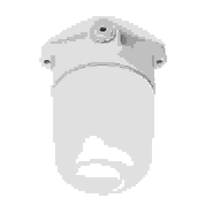 lampa Bauhaus sufitowa - matowe szkło i biała porcelana od Intterno Industrialny