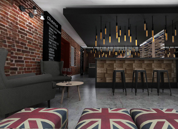Eclectic style bars & clubs by HUK atelier Eclectic