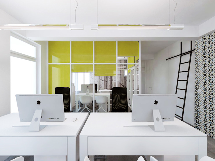 Edificios de oficinas de estilo moderno de HUK atelier Moderno