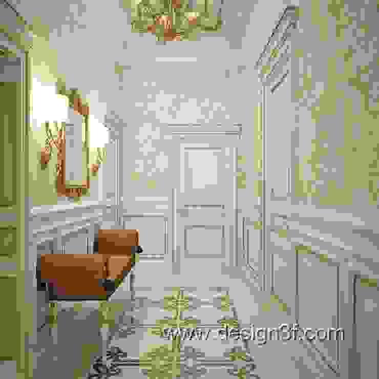 коридор Коридор, прихожая и лестница в классическом стиле от студия Design3F Классический