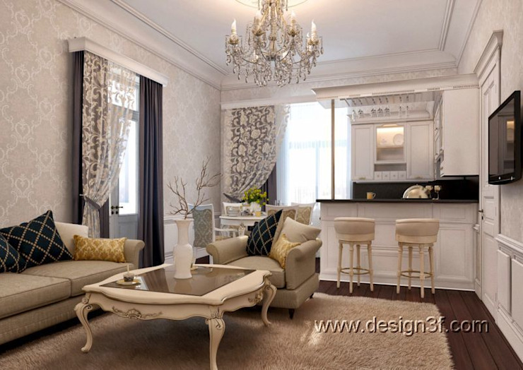 студия Столовая комната в классическом стиле от студия Design3F Классический