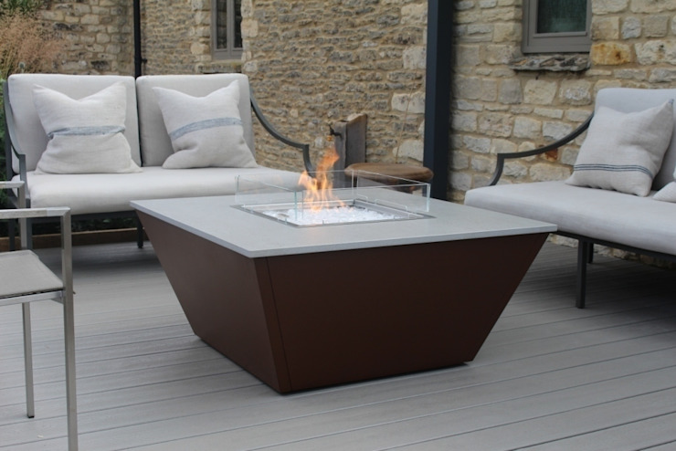 Aztec Gas Fire Table - Cotswold de Rivelin Moderno