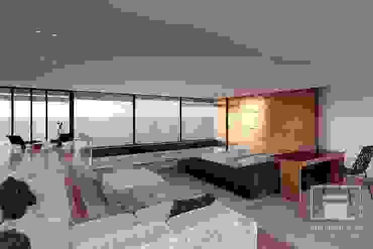 Minimalist bedroom by i-project Minimalist