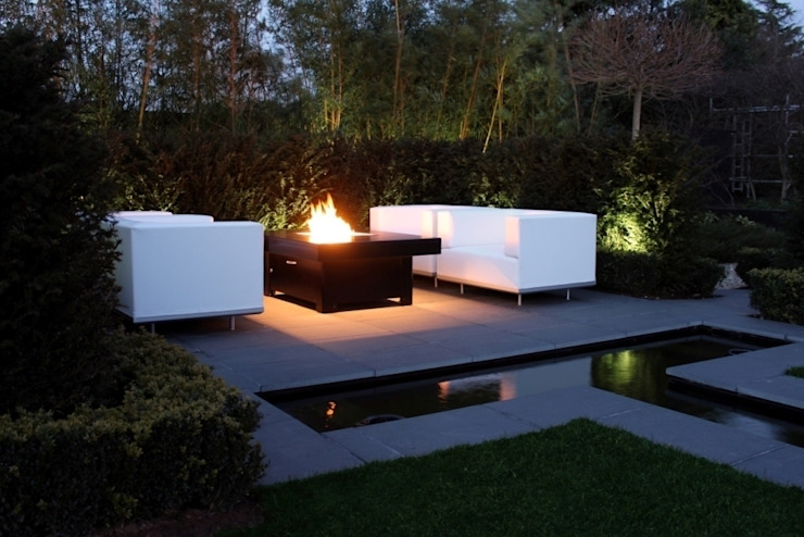Bahama Gas Fire Table - Doncaster di Rivelin Moderno