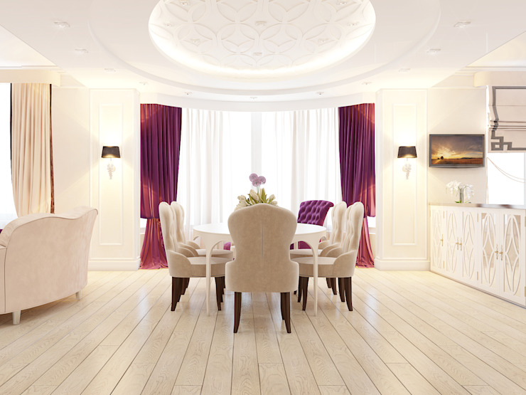 ЖК <q>Тихвин</q> Столовая комната в классическом стиле от Частный дизайнер и декоратор Девятайкина Софья Классический