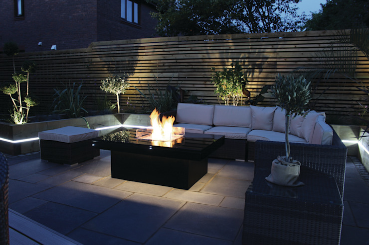 Madrid Gas Fire Table - Warrington Rivelin Garden Fire pits & barbecues