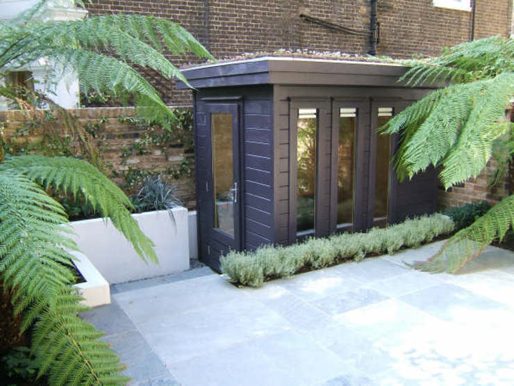 Contemporary Garden Office Bureau moderne par Garden Affairs Ltd Moderne