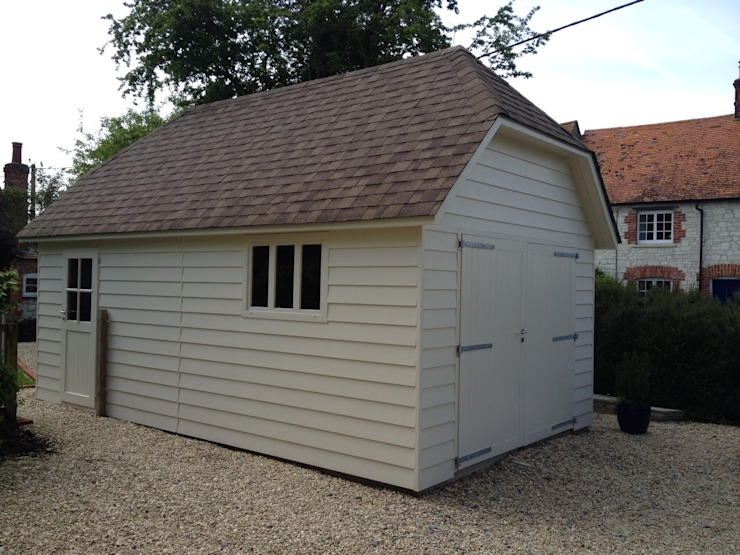 Suffolk Timber Garage by Garden Affairs Ltd Country