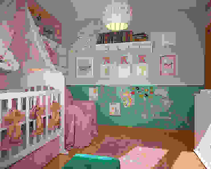 Детская с бабочками. 3D Детские комната в эклектичном стиле от «Студия 3.14» Эклектичный