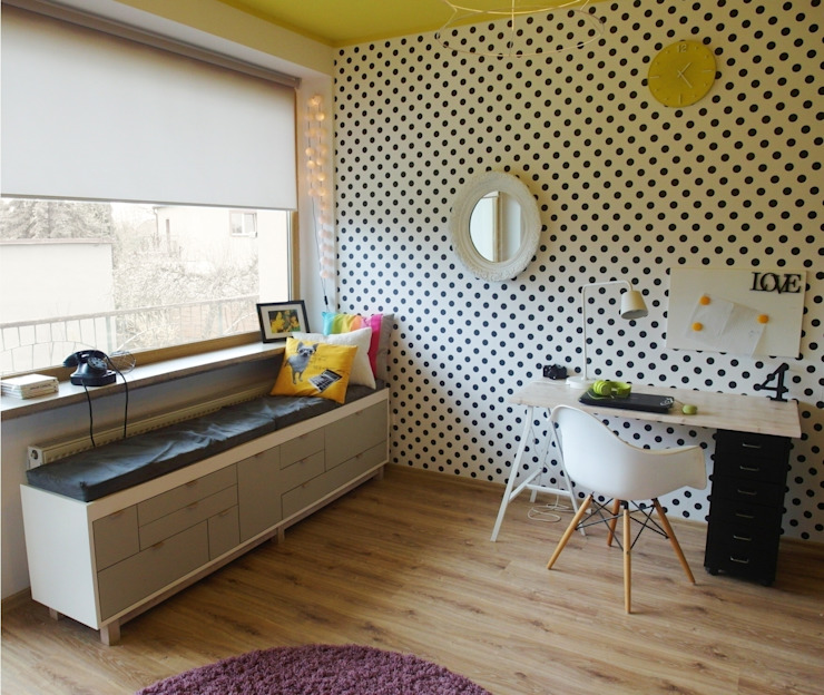pokój M Eklektyczna sypialnia od NaNovo Eklektyczny