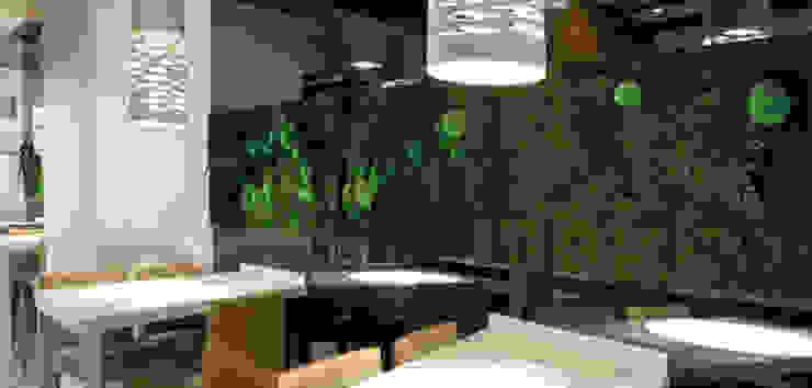 moss with plants design od rstudio Nowoczesny