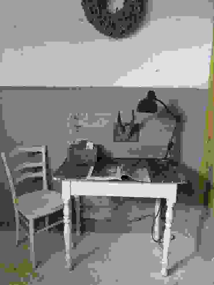Brocante Franse antieke tafel, wit van Were Home Rustiek & Brocante