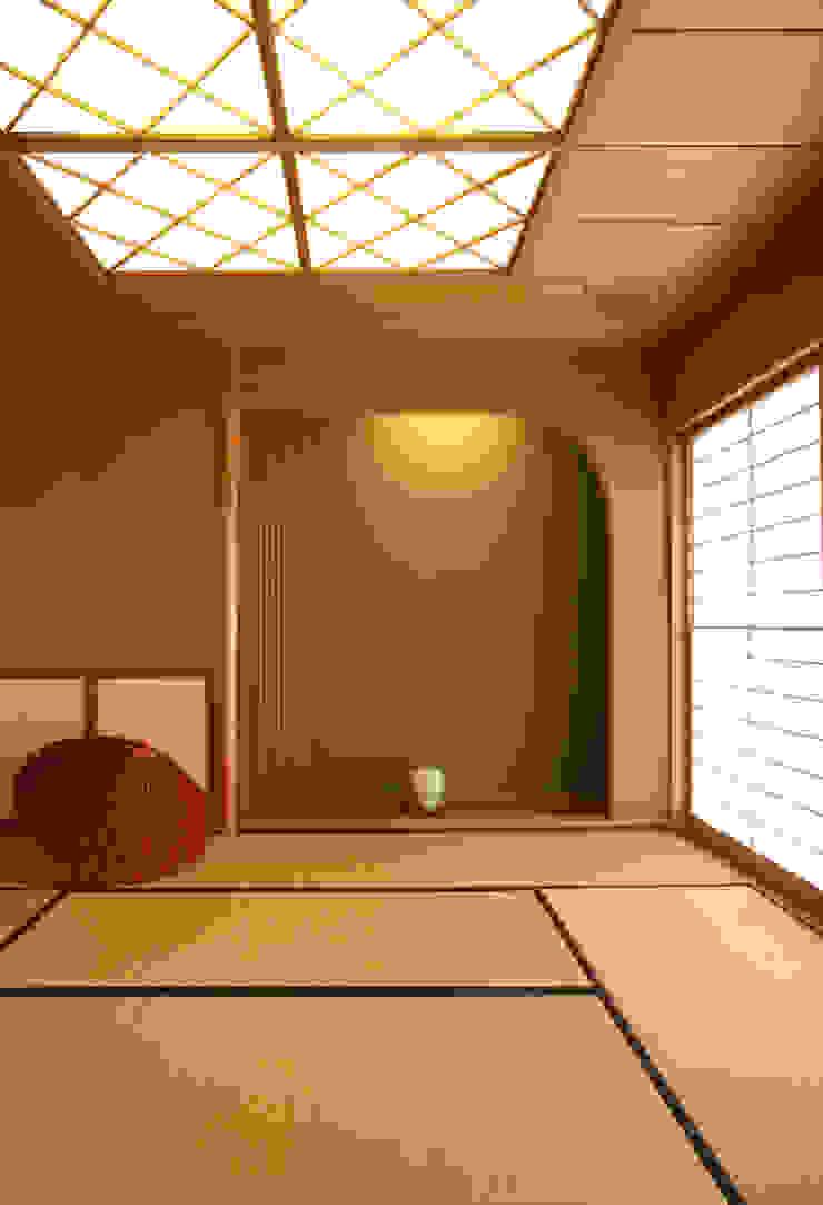 和室 (客間・寝室・あるいは茶の間) モダンデザインの リビング の 吉田設計+アトリエアジュール モダン