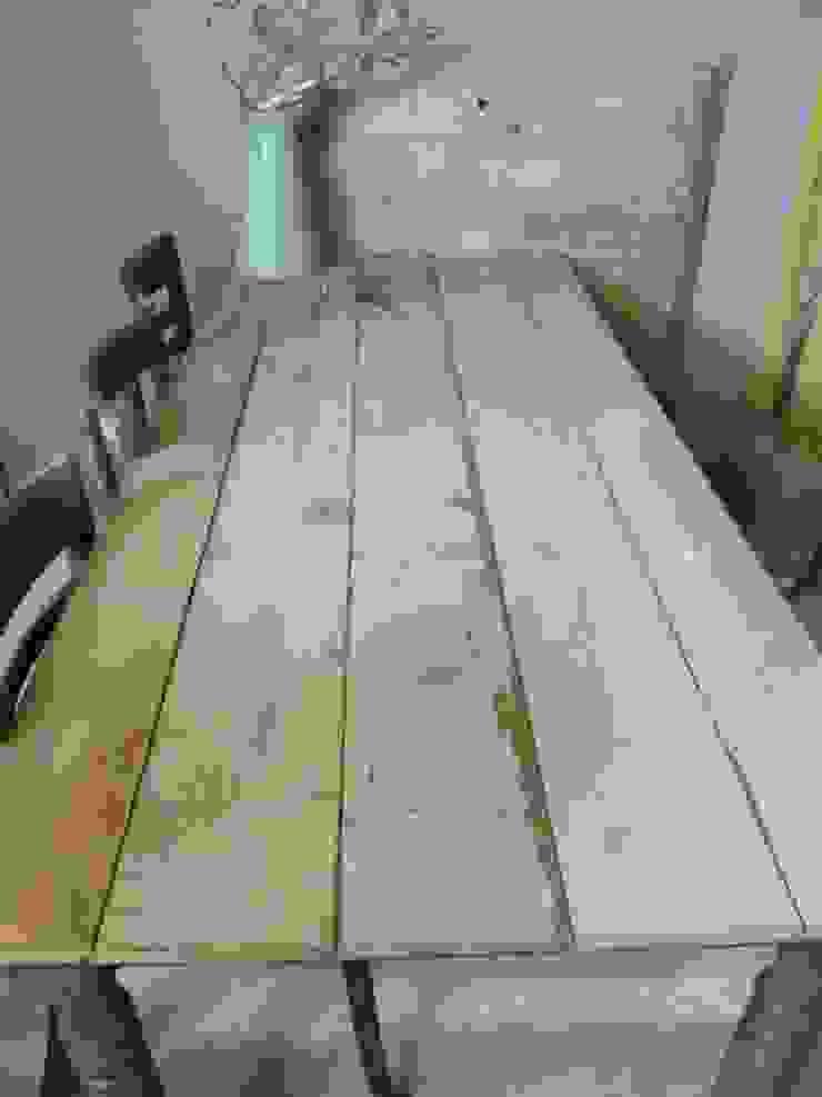 Eet/werktafel met sloophouten blad van Were Home Rustiek & Brocante